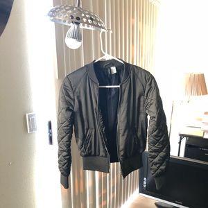 H&M Olive Bomber Jacket Size 4